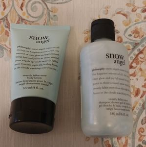 Philosophy Snow Angel Lotion and Body Wash